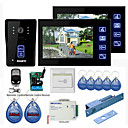 "New 7"" Color Hands Free Video Door phone with 2 Monitors(RFID keyfobs,Electric Bolt Lock,Remote Control)"