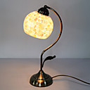 40W Artistic Tiffany Table Light with Globe Stained Glass Shade in Arc Arm Style