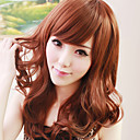 Zipper Brown 60cm Sweet Lolita Curly Wig