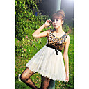Women's Leopard Pleated Dress