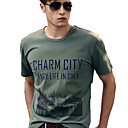 Tour 100% coton pour hommes Print T-shirt  manches courtes
