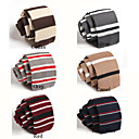 Moda Stripes dos homens malha Bow-tie