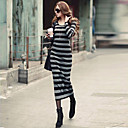 Vestido das mulheres vestido Maxi Stripe