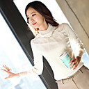 Women's Lace Turtle Neck Blouse Shirt