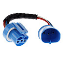 9004/9007 Male to Female Wire Harness Sockets Extension Cable for Car Headlamp/Fog Lamp