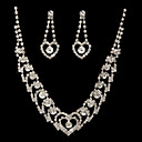Marvelous Czech Rhinestones Alloy Plated Wedding Bridal Jewelry Set,Including Necklace And Earrings