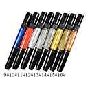 1PCS Dual-use Nail Art Pen for Drawing Paint Dotting No.9-16(Assorted Colors)