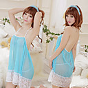 Women's Ultra Sexy Blue-white Transparent Lingerie Dress(Fit S-L)