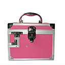 Multifunction Aluminium Alloy Lady's Lockable Cosmetic Box Makeup Case 20*20*16cm