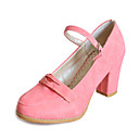 Leatherette Chunky Heel Pumps With Buckle Party / Evening Shoes (More Colors)