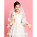 Elegent moniste Wedding Flower Girl Voile avec dentelle Applique bord