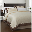 3PCS 250TC Lace Jacquard Poly/Cotton Duvet Cover Set