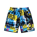 Men's Beach Casual Blue Pattern Trunks