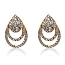 Gorgeous Diamond Alloy Crystal Silver Earrings