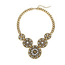 Women's Vintage Beaded Round Cirques Diamond Necklace
