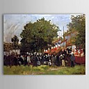 Famous Oil Painting Fete at Argenteuil by Claude Monet