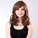 Capless Long High Quality Synthetic Blonde Curly Full Bang Wings