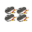 4 PCS 10 Meters (or 33 Feet) BNC Video and Power 12V DC Integrated Cable