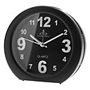 "3.7"" Rounded Snooze Music Analog Desktop Alarm Clock (Random Color, 2xAA)"
