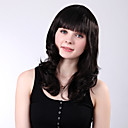 Capless Long Black Full Bang Curly High Quality Synthetic Wings