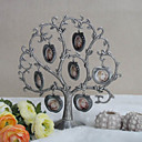 Alloy Family Tree Photo Frame With 7 Hanging Apple Shaped Frames