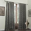 (Two Panels) Traditional Jacquard Geometric Energy Saving Curtains