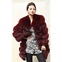 Langarm Kragen Fuchspelz Casual / Party-Coat