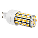 G9 7W 69x5050SMD 630LM 2800-3300K Warm White Light LED Corn Bulb (220-240V)