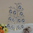 Shining Rhinestone Alloy Family Tree Photo Frame With 12 Hanging Hanging Frames