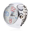 Unisex Flower Style legering analoge quartz Ring Watch (Silver)