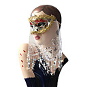 Flashlight Venetian Masquerade Dance Masquerade Party Mask with Veil
