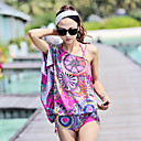 Bunte Print Bikini mit Ein-Schulter Coverup