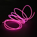 2.3m Pink EL Wire LED Wedding Decoration With Cigarette Charger