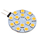 G4 2W 15x5050SMD 120-150LM 3000-3500K Warm White Light LED Spot Bulb (AC 12V)