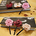Women's Sweet Solid Flower Hair Clip