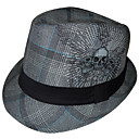 Fashion Skull Pattern Cotton Trilby Hat