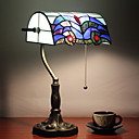 Antique Tiffany Table Lights with Colorful Glass Shade