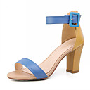 Beautiful Leather Chunky Heel Sandals Party / Evening Shoes(More Colors)