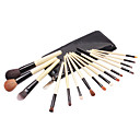 15Pcs Top Wood Professional Makeup Brush