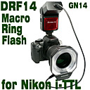 Emoblitz DRF14N Autofocus TTL Digital Macro Ring Flash for Nikon i-TTL D5000 D3100