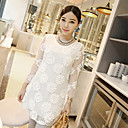 Women's Mesh Lace Flowers Dress