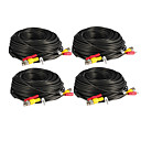 4 PCS 40 Meters BNC Video and Power 12V DC Integrated Cable