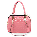 Lady's Fashion Checked Candy Color Dual-use Tote