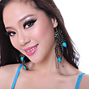 Performance Dancewear Alloy Leaves Cut Belly Dance Earrings