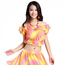Dancewear Chiffon Belly Dance Colorful Top For Ladies