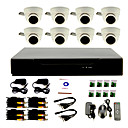 8 Channel DIY CCTV System with  8 Indoor Dome Cameras  for Home & Office