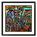 Framed Art Print Floral Candy Coated Irises by Mindy Sommers