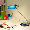 Op Art Lighting - Eye Protection Hibiscus (Matte Silver Transparent Blue) 15W Business-Learning Table Lamp