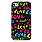 Love Word Pattern Hard Case for iPhone 4 and 4S (Multi-Color)